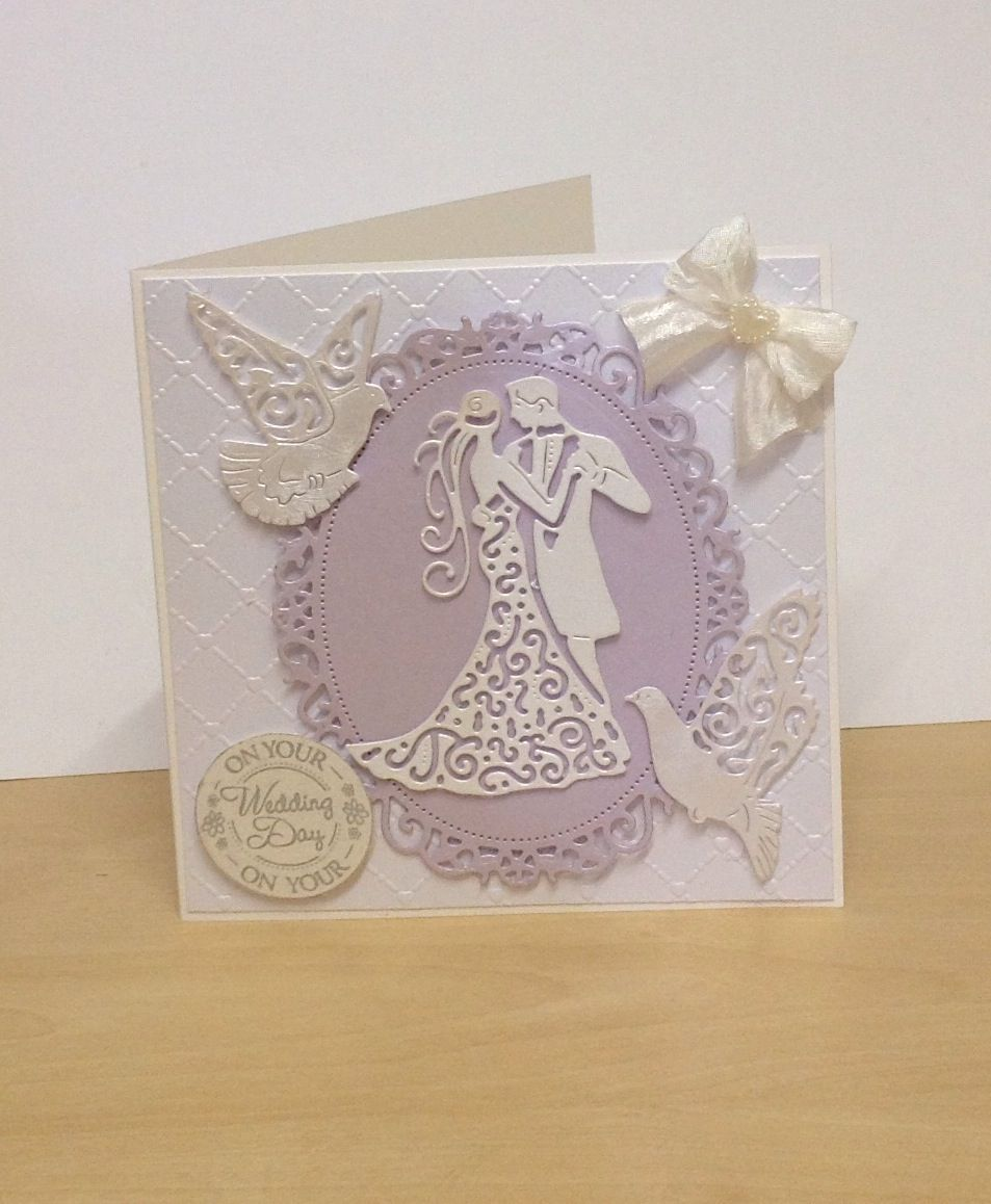 Nice Card Making Ideas Using Tattered Lace Dies Part - 7: Wedding Day Card Using Tattered Lace Dies