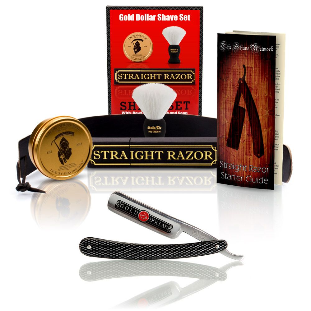 Shave ready gold dollar straight razor with premium shave kit shave ready gold dollar straight razor with premium shave kit straightrazor baditri Image collections