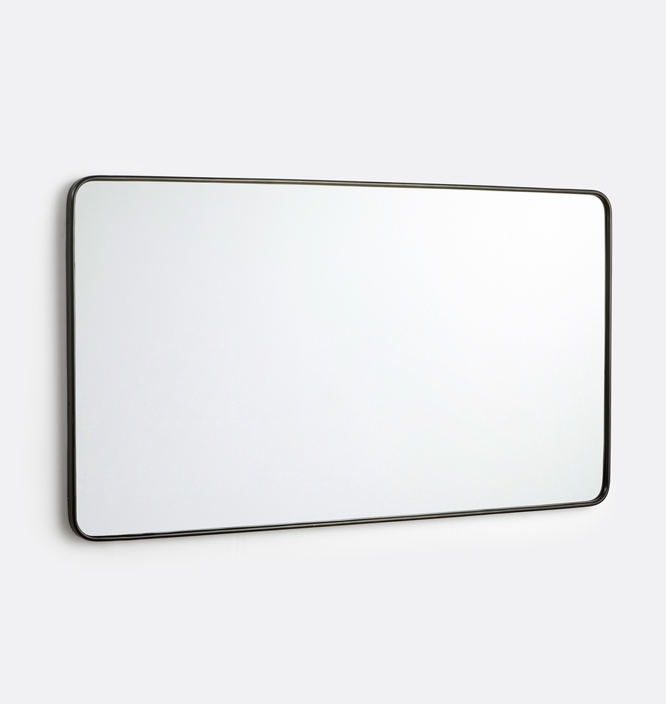 54 X 30 Rounded Rectangle Metal Framed Mirror Rejuvenation In 2021 Metal Frame Mirror Mirror Frames Rounded Rectangle