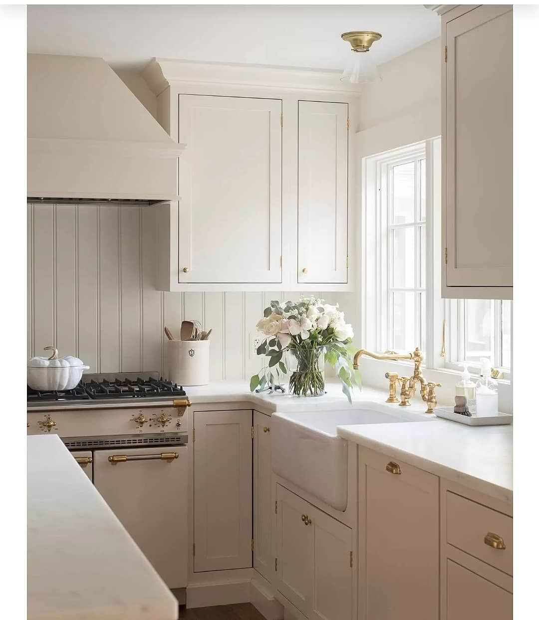 Ali Henrie Design On Instagram Are Cream Colored Kitchens The New White Kitchens Working On A Creamy White Kitchen Right Now And Th In 2020 Cream Kitchen Cabinets New Kitchen Cabinets