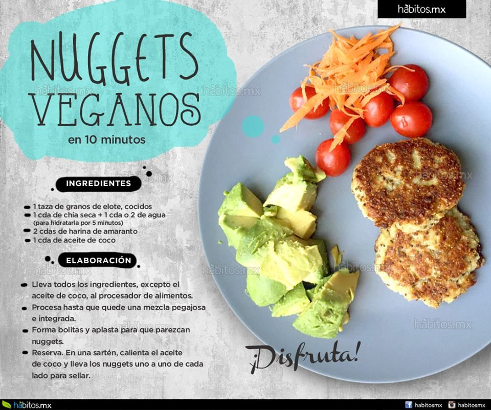 Hbitos Health Coaching  NUGGETS VEGANOS EN 10 MINUTOS