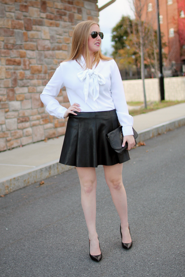 Style-Blueprint.com // Skater Skirt // Faux Leather Pleated Skater ...