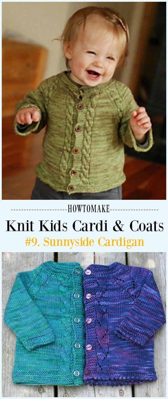 Kids Cardigan Sweater Free Knitting Patterns   Baby boy ...