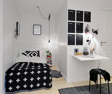 Zwart en wit tienerkamer Black and white teen room – Black and White Teenage Bedroom