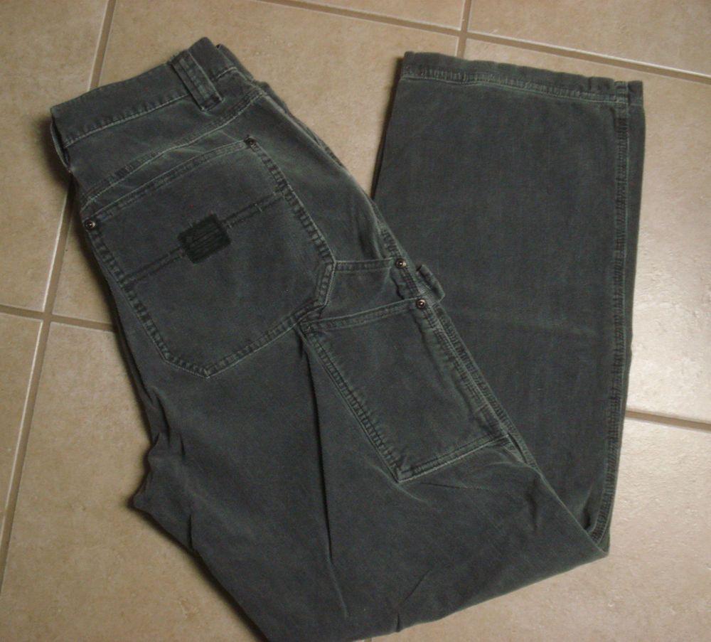 32d34dad Men's Columbia Sportswear Corduroy Carpenter Pants Size 31 x 31 Gray  #Columbia #Carpenter
