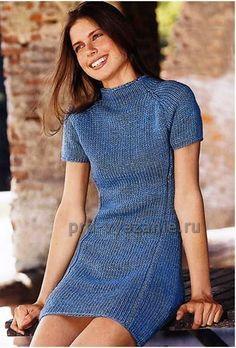 97a0603e74f0 Платье-туника спицами для женщин   Про вязание  вязаная одежда и аксессуары  своими руками