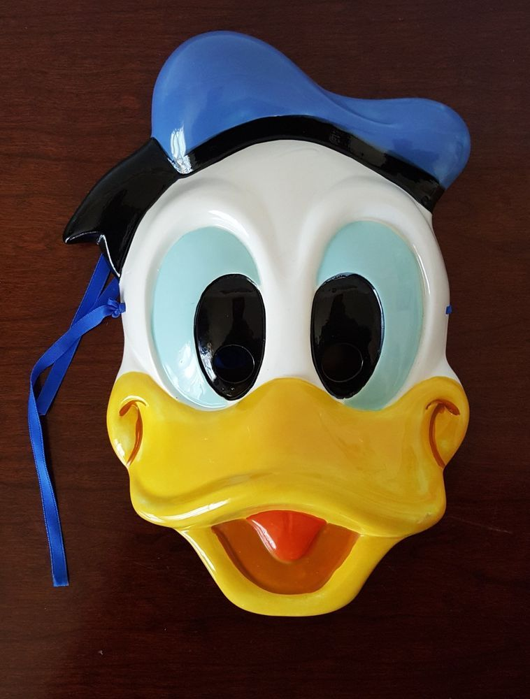 Donald Duck Face Mask vintage RO Japan ceramic wall decor Disney ...