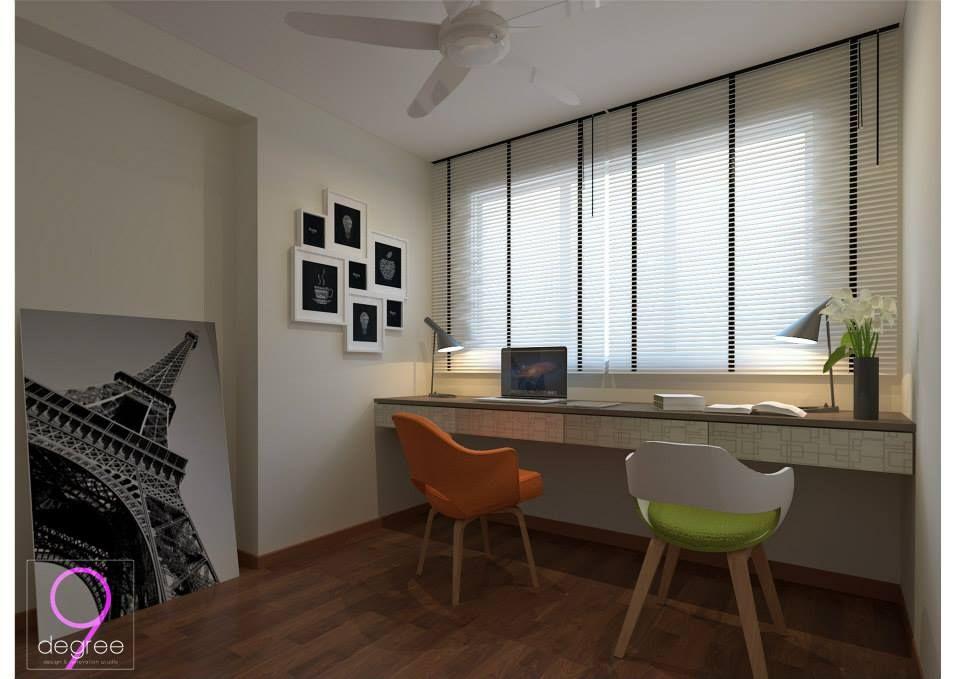 Superior Hdb Study Room Design Ideas Part - 13: Cool HDB BTO 4-Room $30k @ Blk 671 Punggol Waterway Banks - Interior