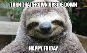 cbfa1f3e9a31c1d1af47dc94812d947d happy friday ) sloth slothmeme (scheduled via www