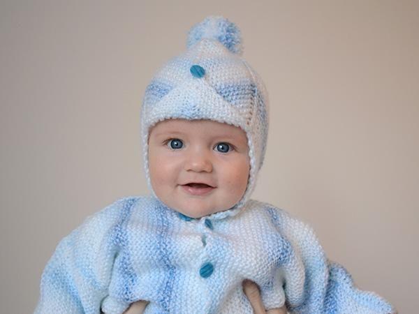 610fc6196 Návod na pletenú čapicu pre bábo - foto postup | Autorka: Dasa_ | pletenie,  detská čiapka