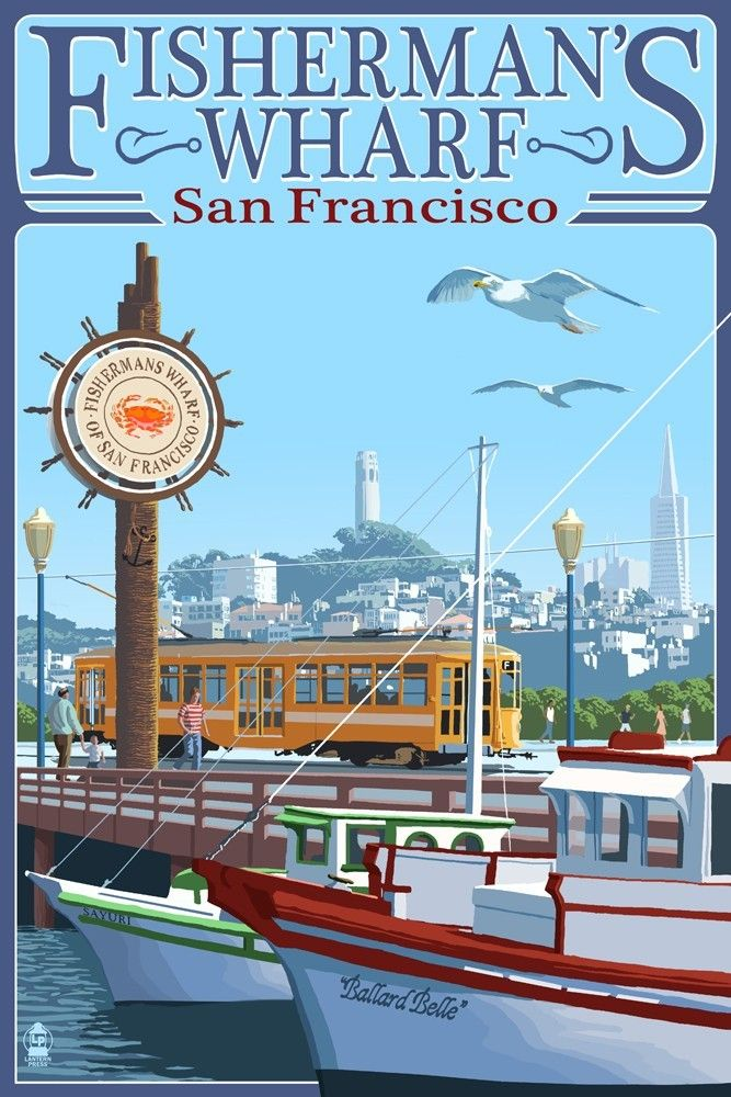San Francisco | Fisherman\'s Wharf with Coit Tower in the background ...