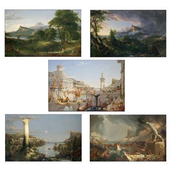 The Course Of Empire Prints Set Of 5 The Course Of Empire Architecture Painting Print Sets