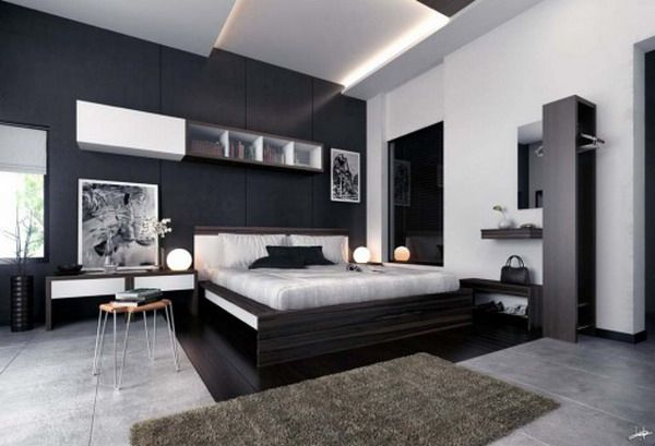 black and white bedrooms for guys - Google Search JP Bed