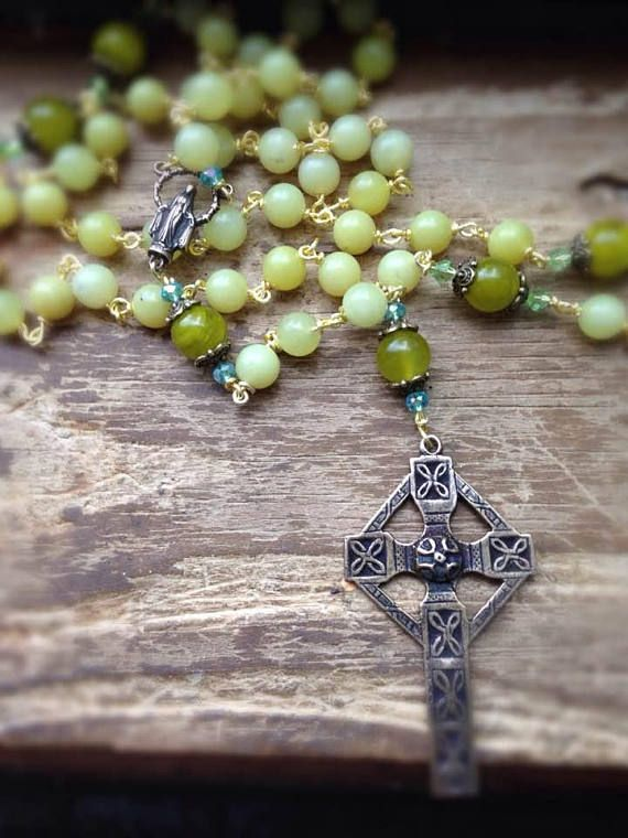 Celtic Mists Rosary celtic rosary celtic cross rosary wire