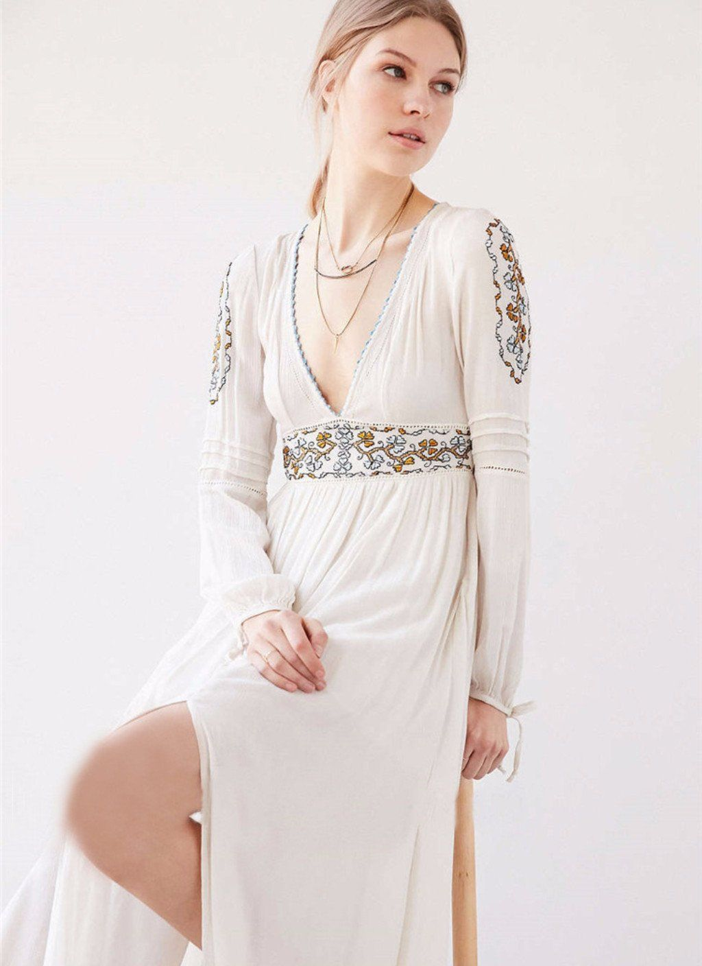 Embroidered maxi dress products pinterest maxi dresses and