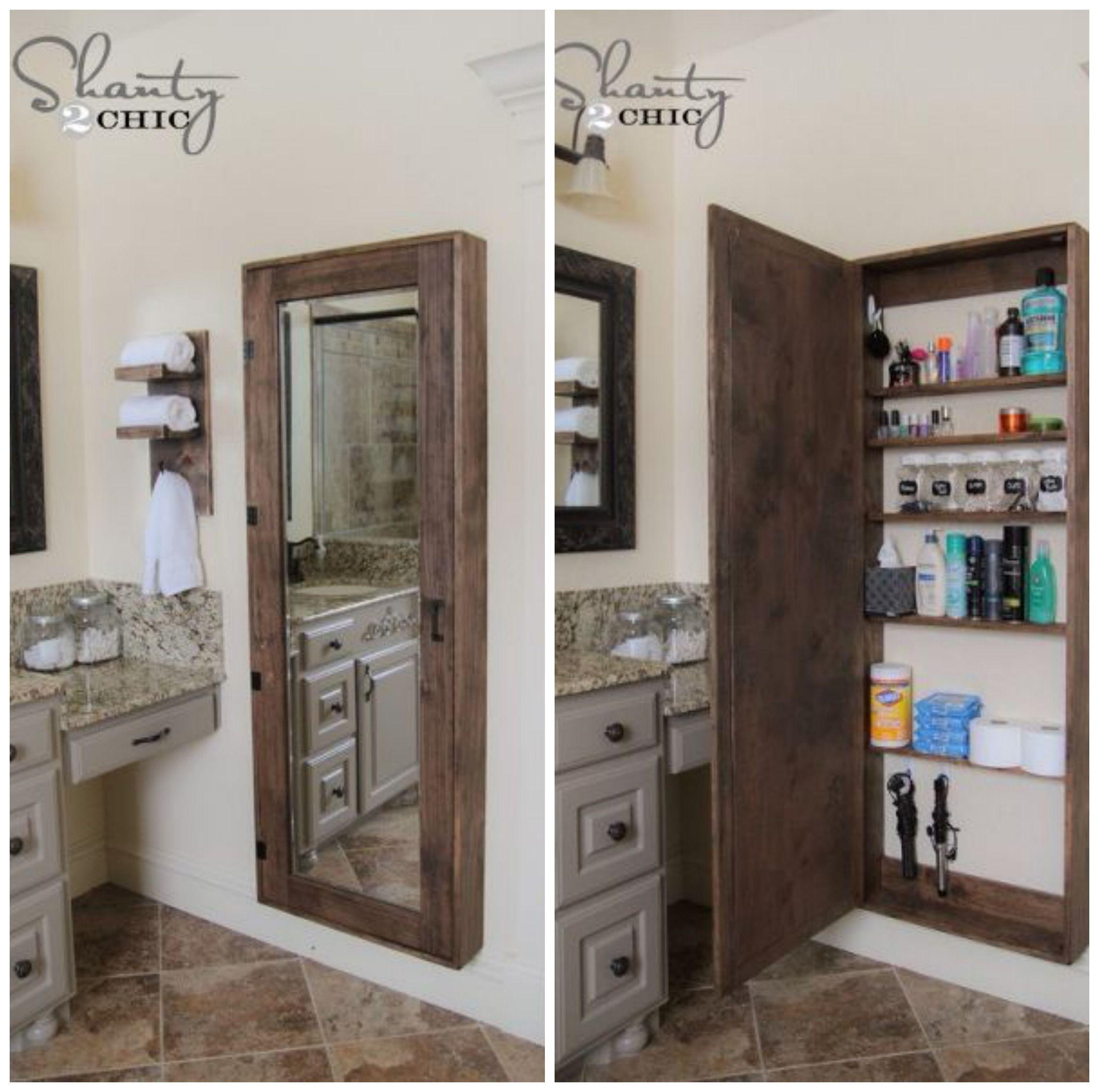 Diy Bathroom Storage Cabinet House Ideas Bathroom Mirrors Diy Bathroom Mirror Storage Bathroom Storage