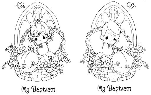 Baptism Coloring Pages Digi Stamps Precious Moments Coloring