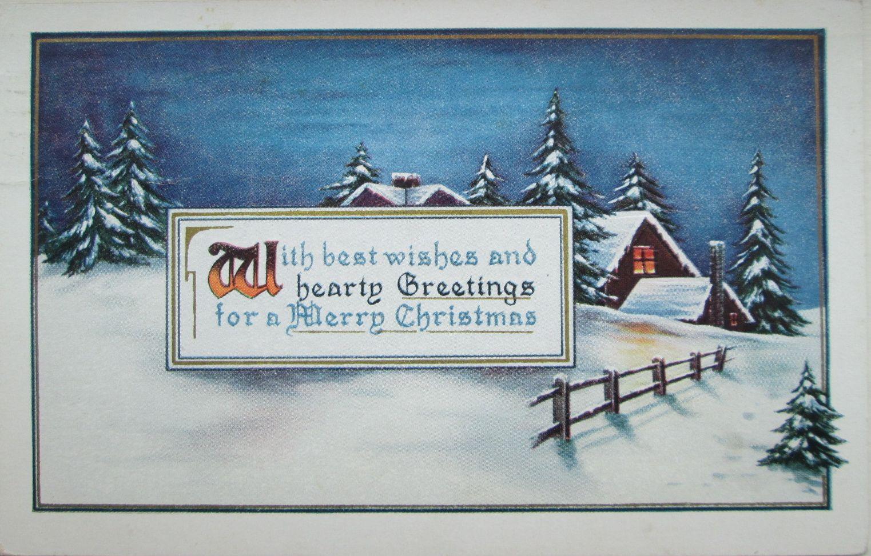 USA, December 1918. Postcard Whitney Made, Worcester, Mass.   Vintage christmas, Christmas cards ...