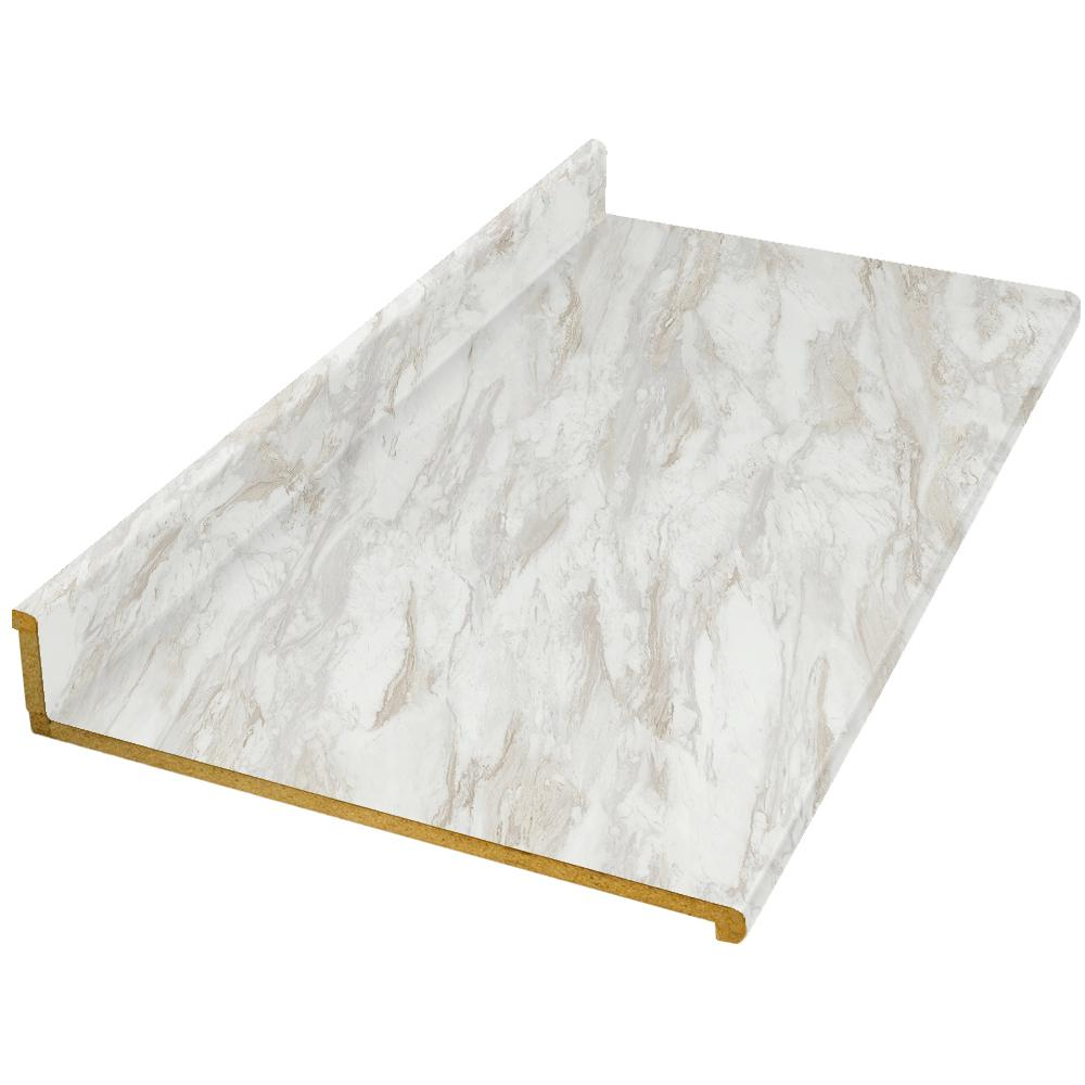 Hampton Bay 6 Ft Laminate Countertop In Drama Marble With Ora
