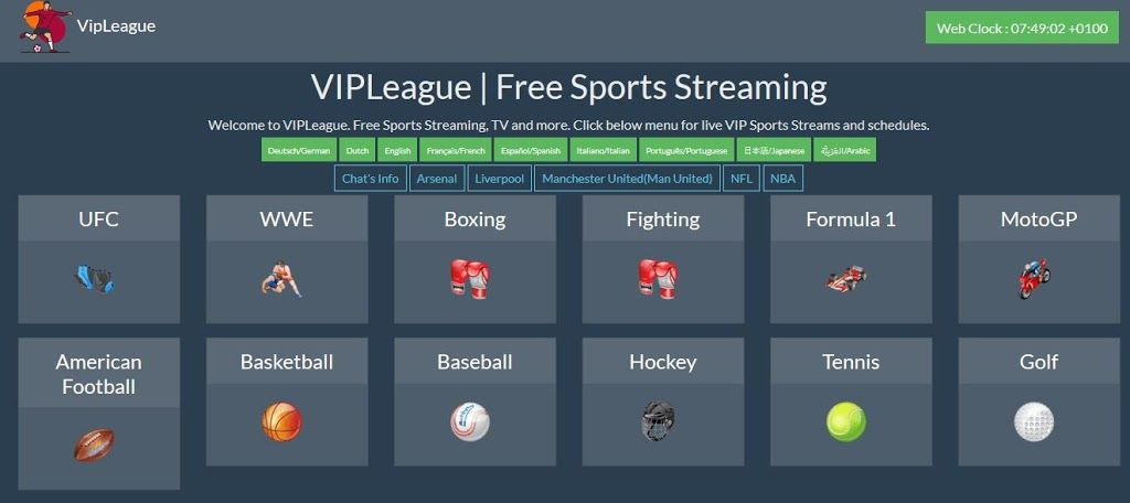 Vipleague Top 5 Secret Free Sports Streaming Alternatives Free Sport Ufc Sport Football Streaming