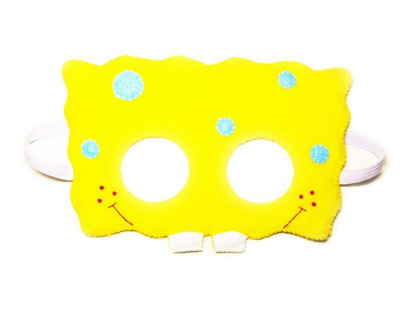 Spongebob Squarepants Felt Mask For Kids Adults Yellow Blue
