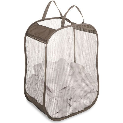 Laundry Bags With Handles Interesting This Pop And Fold Mesh Laundry Bag Folds Includes Durable Nylon 2018