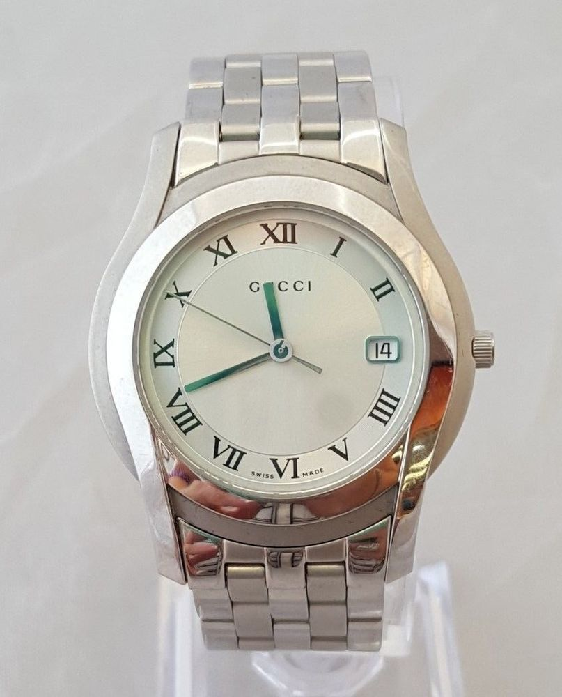 1b02564ee42 Gucci 5500M Roman Dial Stainless Steel Swiss Made Wrist Watch