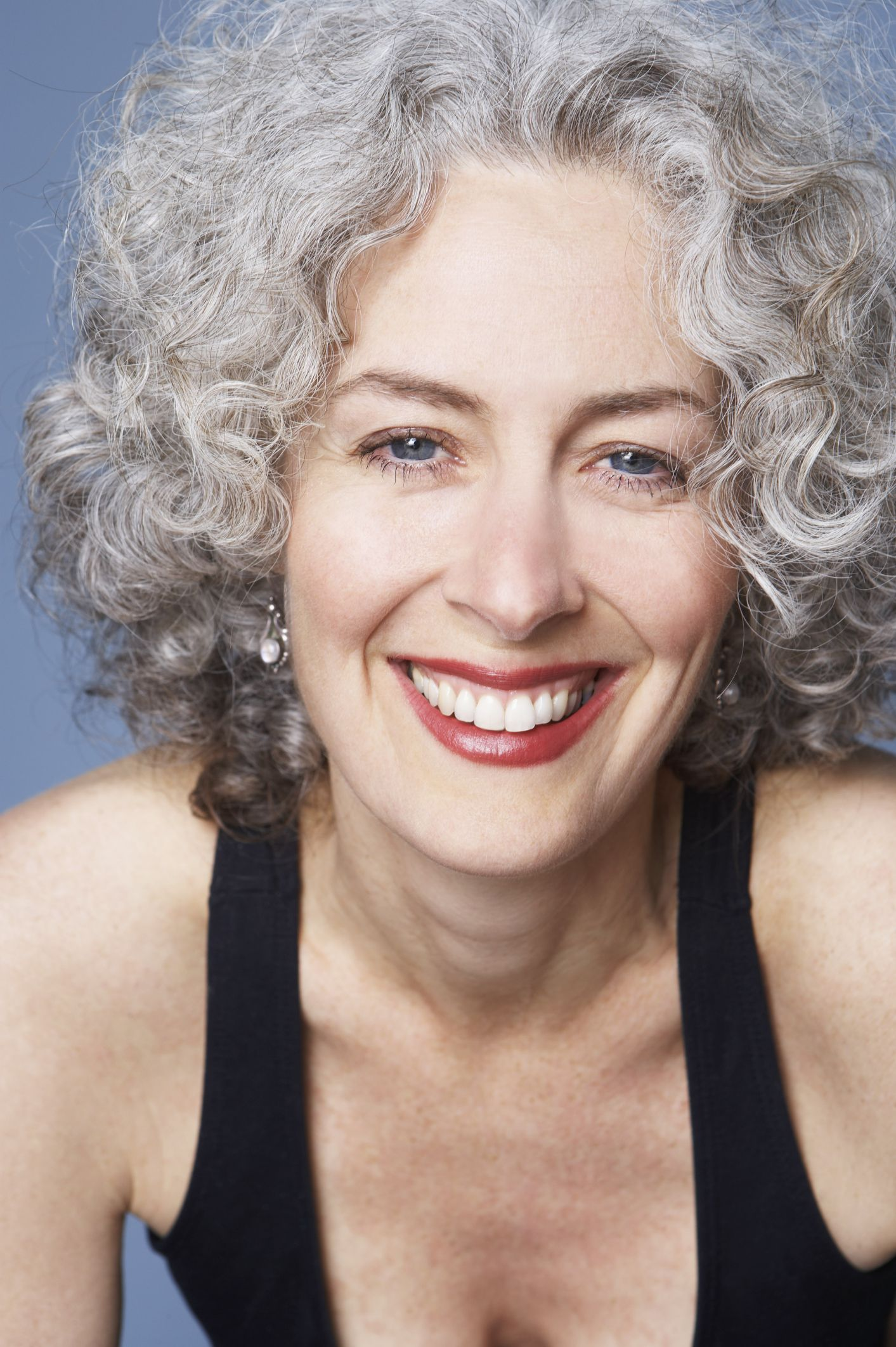 Exercises for lines grey curly hair older