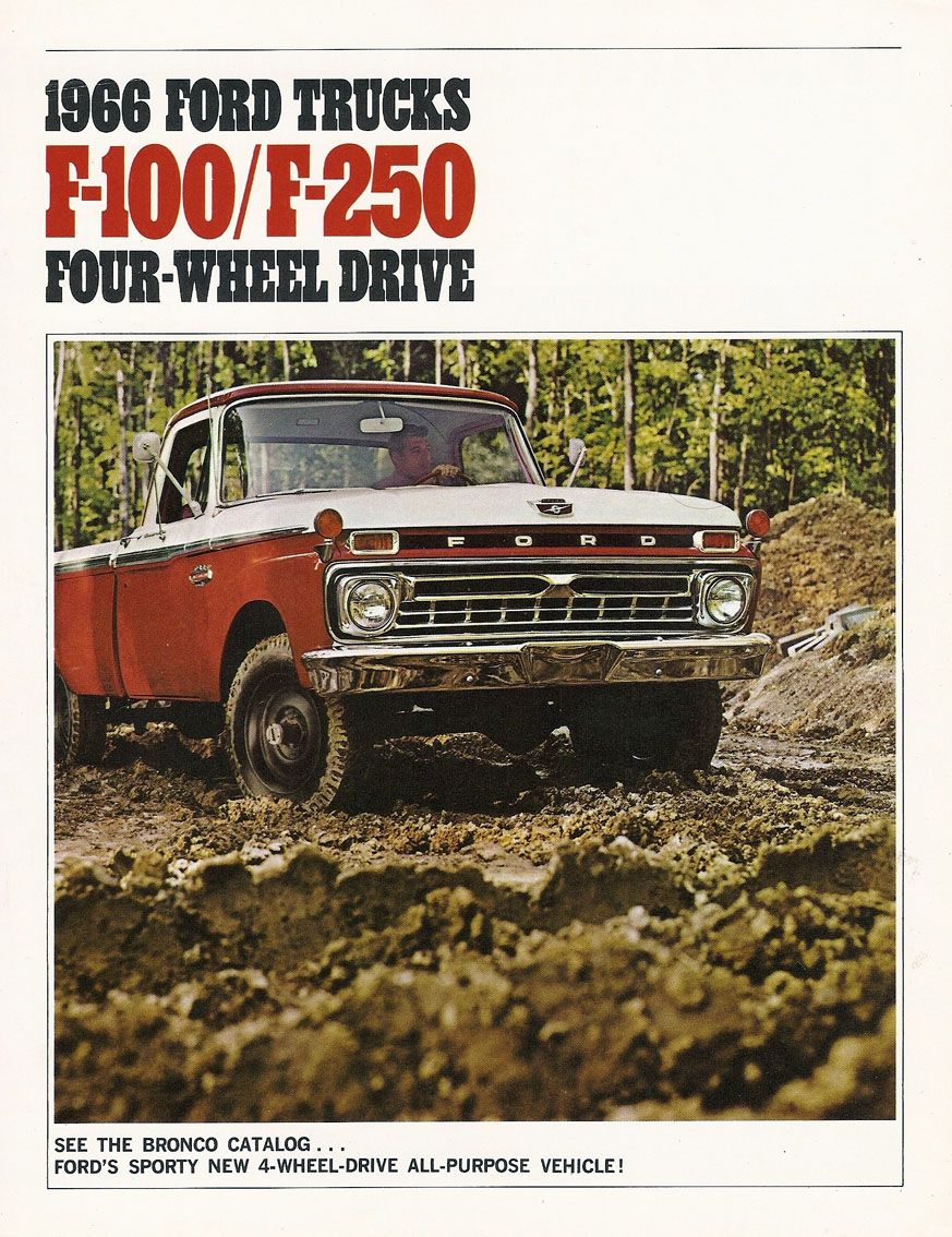 1966 Ford Truck Advertisement  | FORD | Classic ford trucks