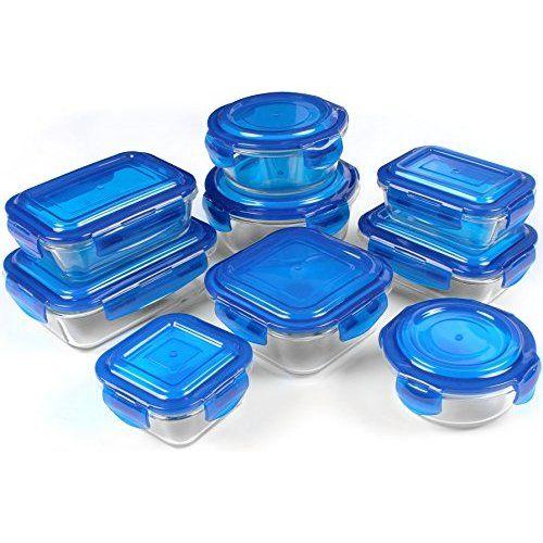 Amazoncom Zenware 20 Piece Microwave Safe Glass Food Storage