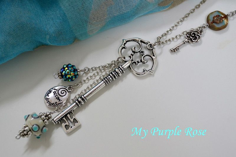 "Kette ""follow your dreams"" von My Purple Rose auf DaWanda.com"