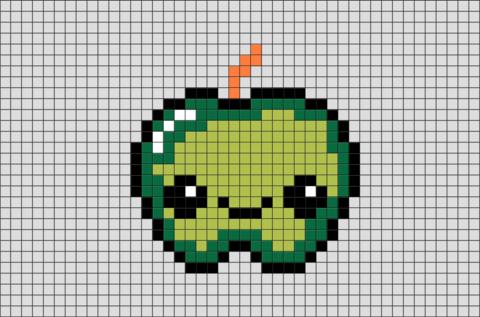 Green Apple Pixel Art Pixel Art Pixel Art Grid Pixel Art