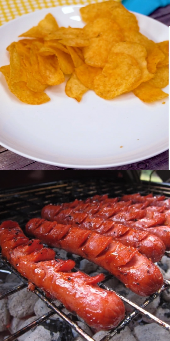 THE BEST Grilled Hot Dogs - hot dogs sliced and marinated before grilling - you will never grill hot dogs any other way! These are seriously amazing!! Hot dogs ketchup garlic Worcestershire and oil. Serve on buns. These are always a hit at our cookouts!