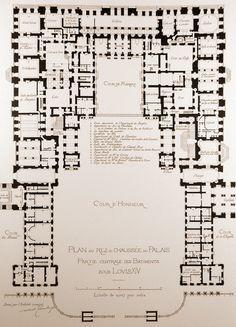 Palace Of Versailles Floor Plan Design