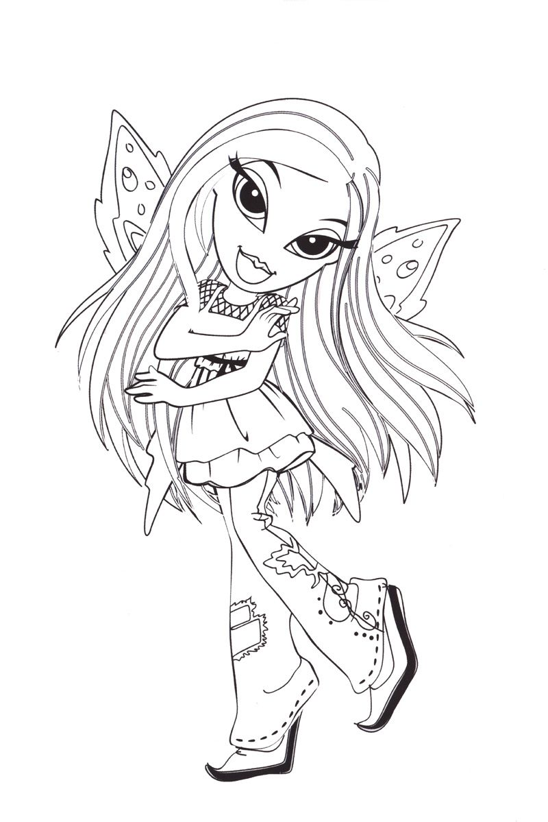Bratz Butterfly Cute Coloring Pages Coloring Pages Flower Sketches