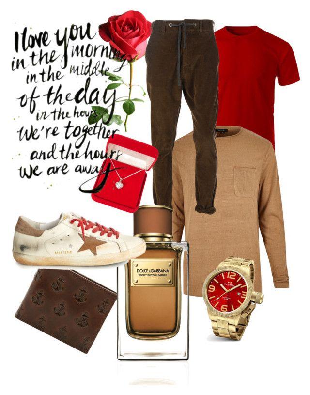 """Valentine's Day"" by renicherie on Polyvore featuring Altalana, TW Steel, Jack Spade, Dolce&Gabbana, Golden Goose, Alexa Starr, mens, men, men's wear and mens wear"