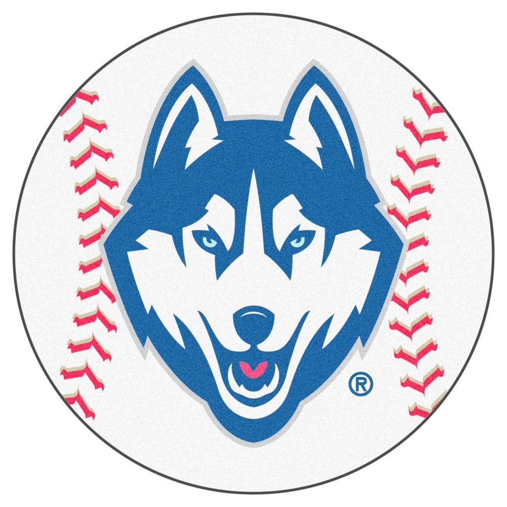 NCAA 27 in. Baseball Mat, Uconn Huskies Husky logo, Dog