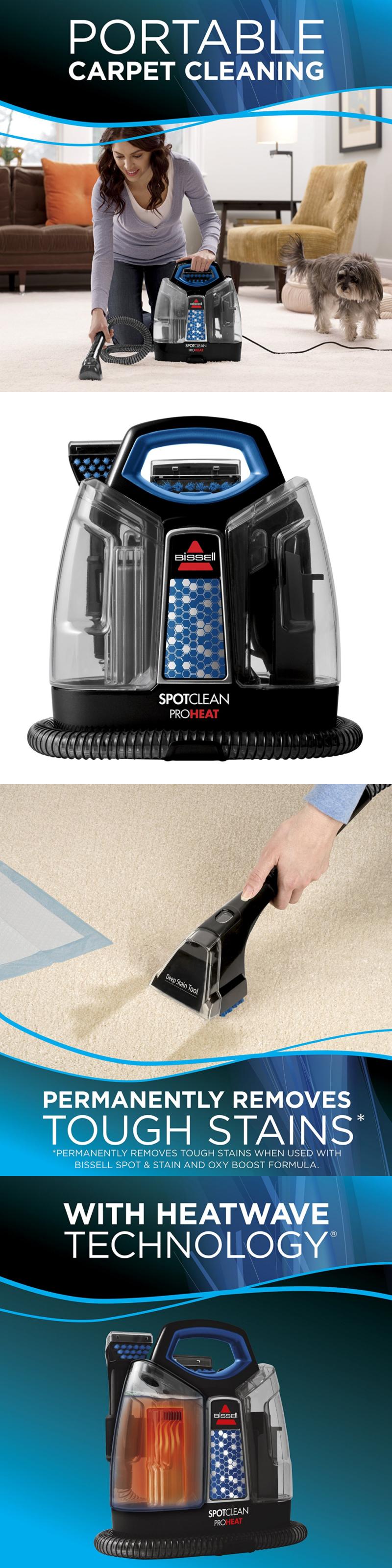 Carpet shampooers 177746 carpet shampooer steam cleaner portable rug upholstery floor car carpet cleaner