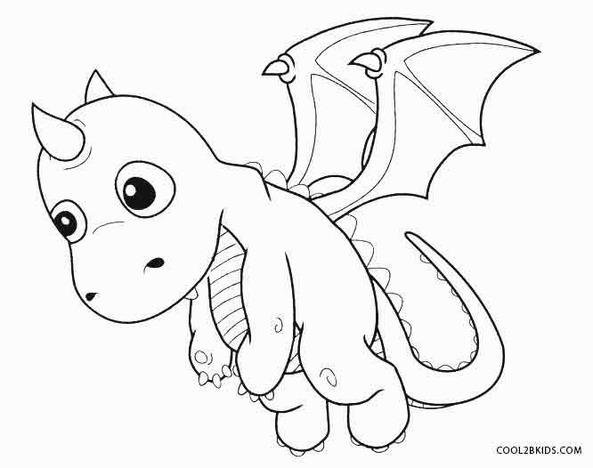 printable dragon coloring pages for