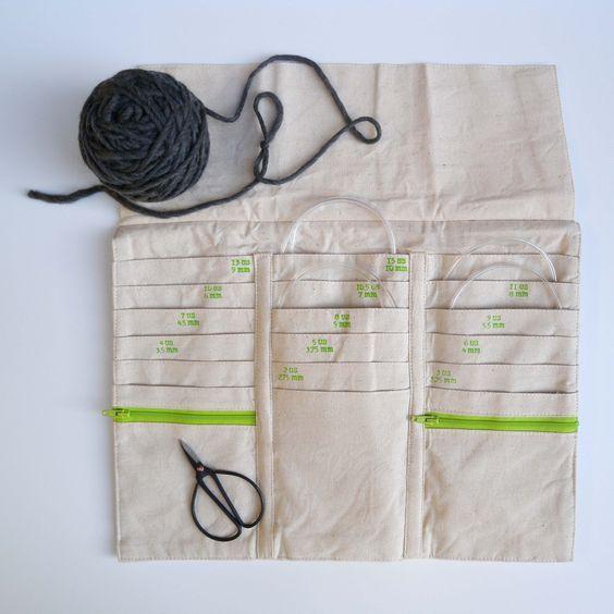 Circular Knitting Needle Case Knitting And Crochet Ideas