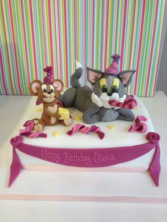 Tom Und Jerry Torte Cakes In 2019 Pinterest Tom And Jerry Cake