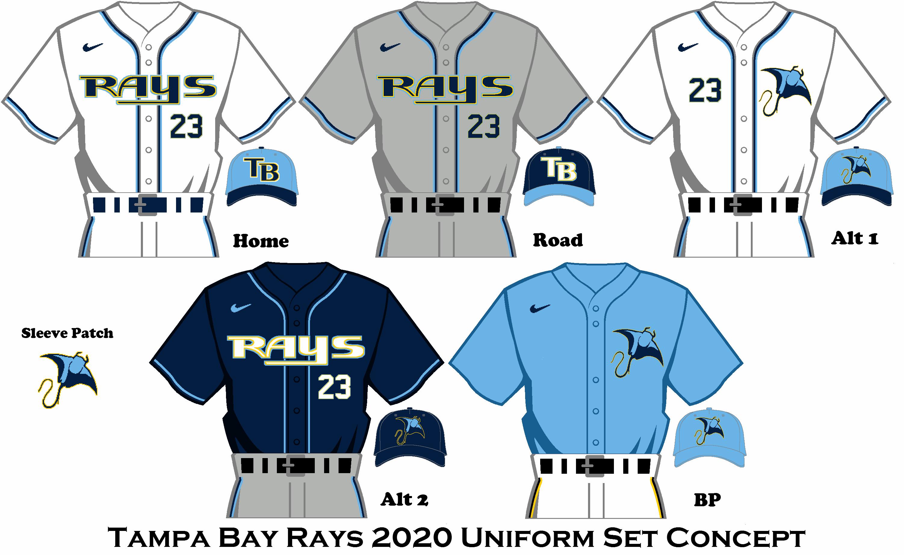 2020 Nike Rebrand Tampa Bay Rays Uniform Set Tampa Bay Rays Tampa Bay Tampa