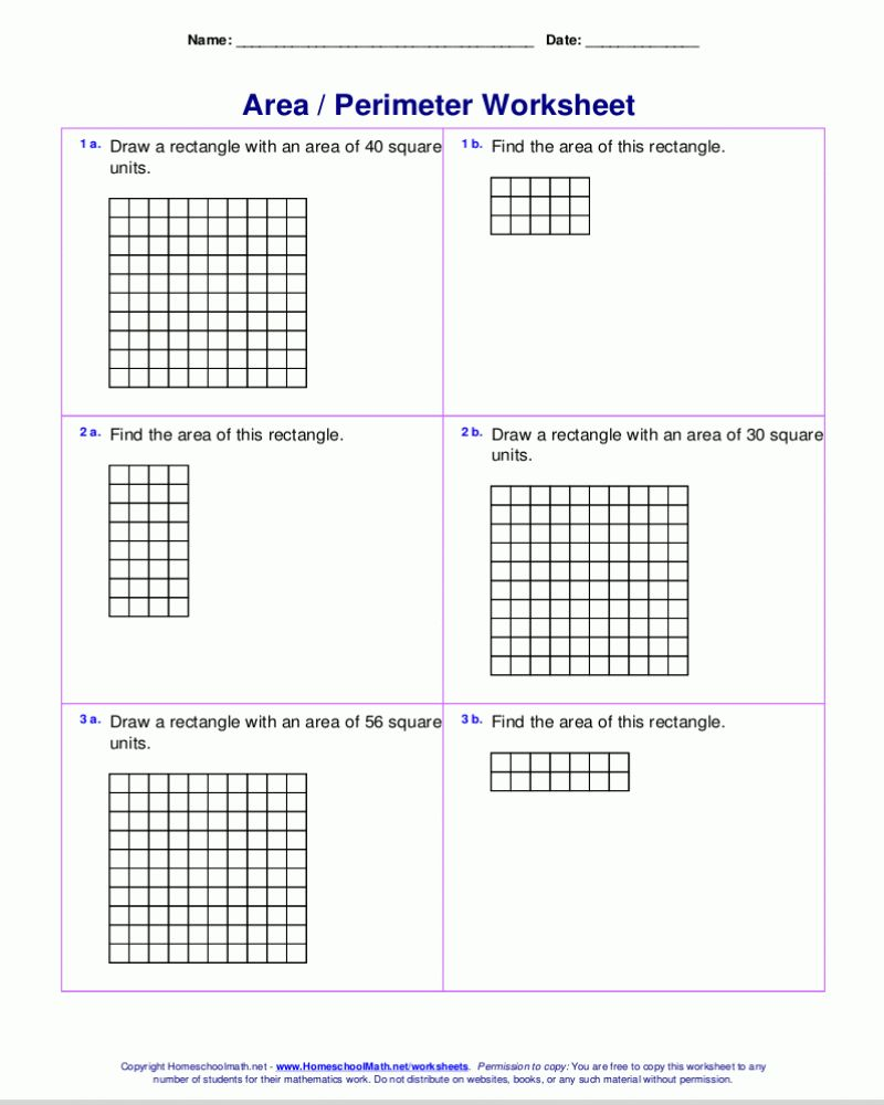Math 3rd Grade Area of a Square Worksheet Printable Your