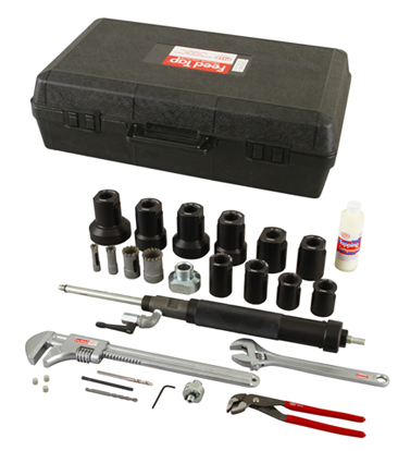 The Reed Feed Tap System Available In 3 4 To 2 Systems Hottap Hottapping Equipment Tools Reed Sale Deals With Images Tap System Repair Ductile Iron