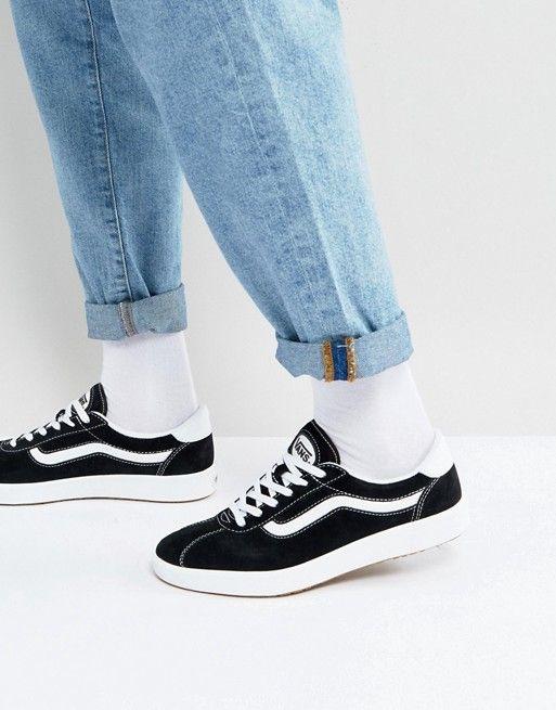 Vans Wally Suede Sneakers In Black VA3DPWOS7 f4e9ae1ac