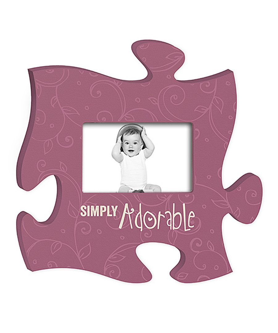 Look at this 'Simply Adorable' Puzzle Piece Photo Frame on