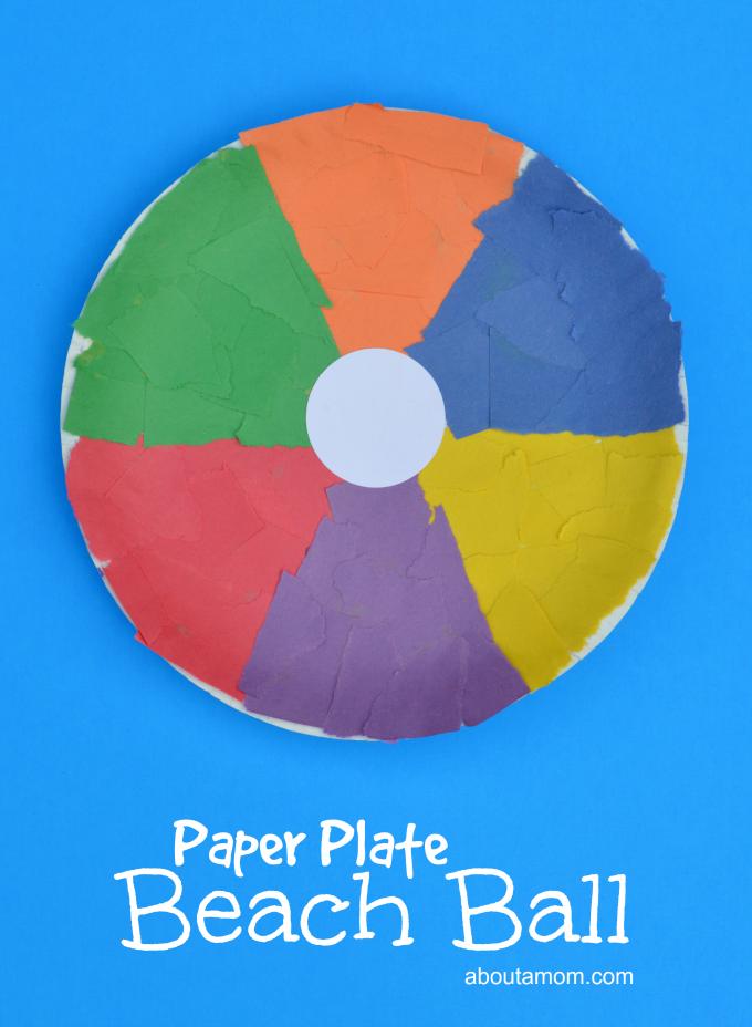 paper plate beach ball craft preschool activities school ideas