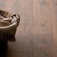 Wood Tile Effect Laminate Flooring At Homebase Laminate Flooring Flooring Oak Laminate Flooring