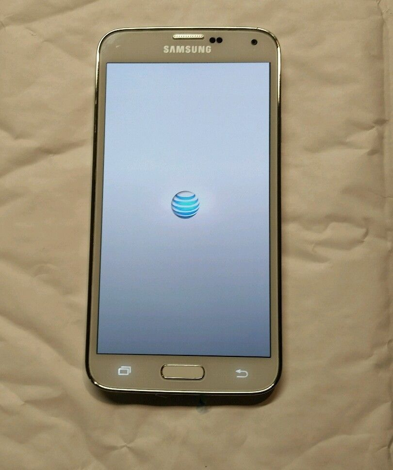 Samsung Galaxy s5 16 gb g900a at&t white factory unlocked ESN CLEAN!! #Samsung