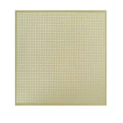 12 In X 24 In Lincane Aluminum Sheet In Brass With Images M D Building Products Aluminium Sheet Radiator Screen